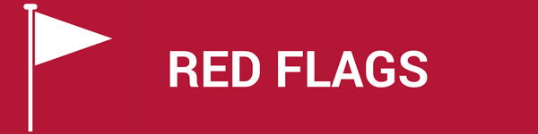 BrandYourself, white flag, red background, red flag text