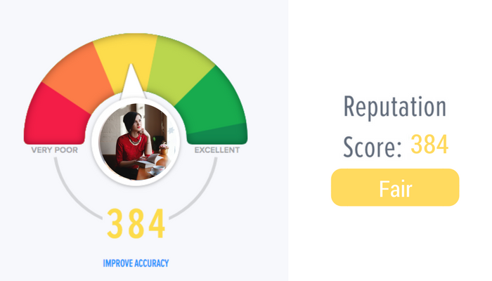 An example of a fair online reputation score.