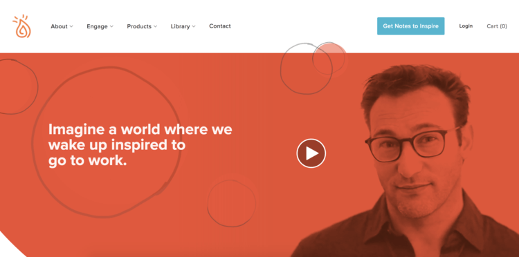 Simon Sinek homepage screenshot