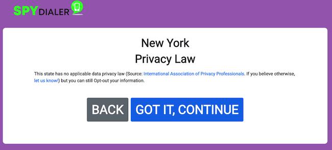 spy dialer state privacy law