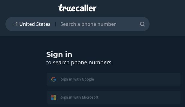 truecaller login