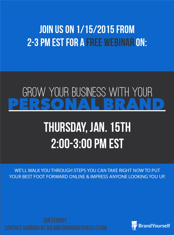 BrandYourself Webinar: Grow your business with your personal brand