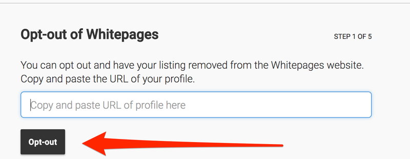 Whitepages opt out steps
