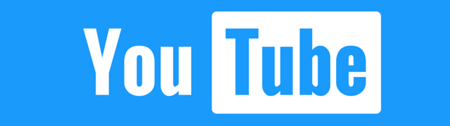 YouTube blue custom logo banner