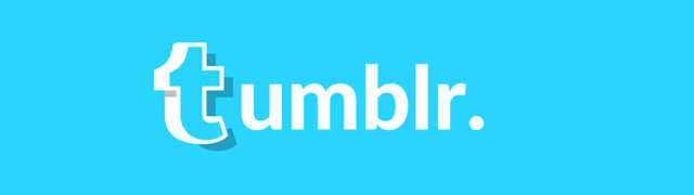 Tumblr blue custom logo banner