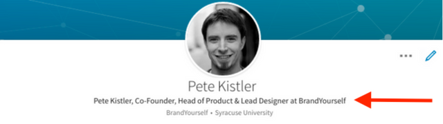 Editing headline Pete Kistler Linkedin