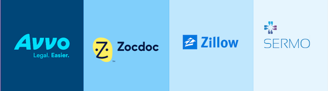 Industry Profile Logos Avvo Zocdoc Zillow Sermo